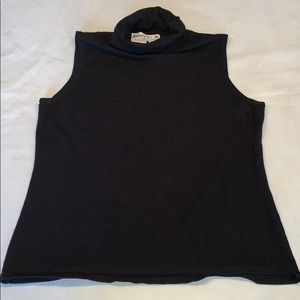Joseph A. Black sleeveless turtleneck large